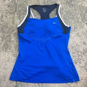 Nike Blue Dry Fit Athletic Exercise Tank Top
